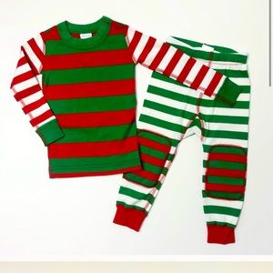 Hanna Anderson kids holiday mix it up pj's size 12